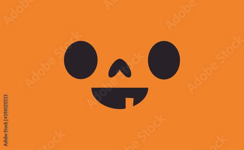Fototapeta Halloween pumpkin face icon