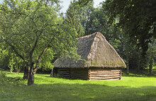 Wooden Village Building Of Ope...