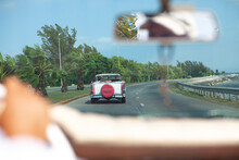 A View Of A Classic Car Taxi R...