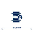 oil drum icon on white background. flat vector oil drum icon symbol sign from industry concept. can be used for web and mobile