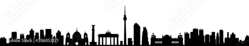 Berlin city silhouette with towers - stock vector