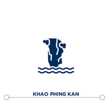 Khao Phing Kan Icon On White B...