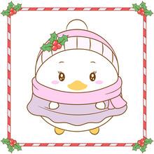 Merry Christmas Cute Daisy Duc...