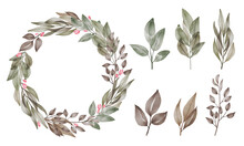 Laurel Wreath Isolated On Whit...