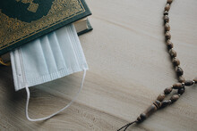 Holy Book Of Quran With Rosary...