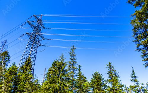 Fotografie, Obraz modern electricity pylon