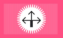 Arrow Icon With Star , Vector Symbol