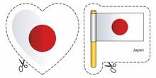 Flag Of Japan. Vector Cut Sign...