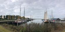 Sailships In The Harbor Of Sloten