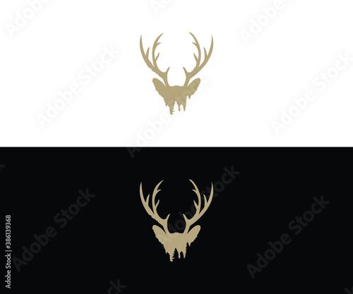 Deer horn logo Canvas