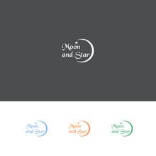 Moon And Star Logo Design