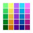 Abstract Colored Palette. Table color shades. Color harmony. Trend colors. Vector illustration.