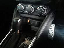 Dark Luxury Car Interior. Front Seats Of Premium Car Leather Panels The Side View Driver