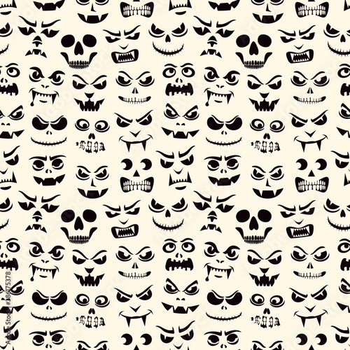 Foto Funny monsters seamless pattern
