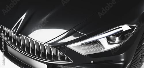 Obraz Detail shot of new modern premium car - fototapety do salonu