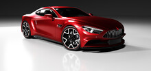 Premium Red Coupe Sports Car I...
