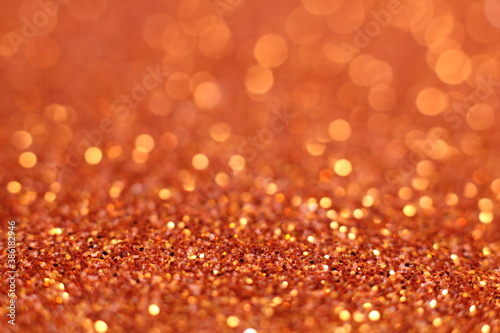 Obraz Abstract modern dark orange glitter sparkle background for happy birthday invite, spooky Fall Halloween party magic pattern, October kid trick or treat night, fire, Thanksgiving Autumn gala or sale - fototapety do salonu
