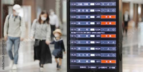 Foto 空港/出発ターミナルのフライト時刻表