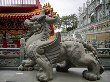 A Chinese Guardian Lion At Wen...