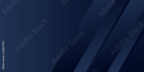 Fototapeta Modern dark blue abstract presentation background with 3D light arrow bar and tr