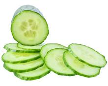 Fresh Slice Cucumber Isolated