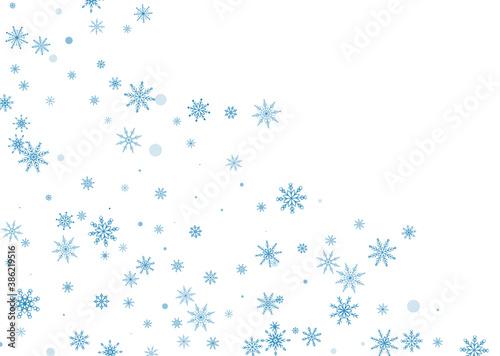 Leinwand Poster Snowflakes