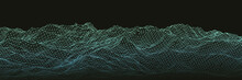 Wireframe Polygonal Mountain L...