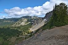 Mt Rainier Fremont Lookout Trail, Blue Sky With Cloud