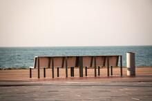 Bench In The Park In Batumi. G...