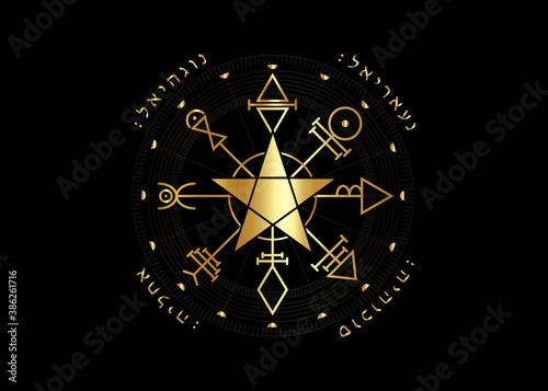 Fototapeta First Pentacle of Venus, seals magical talisman