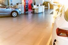 New Shiny Cars At Dealer Showr...