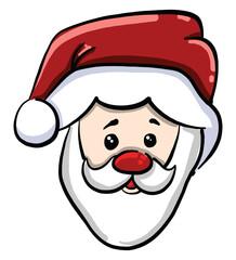 Obraz na płótnie Canvas Santa Claus, illustration, vector on white background