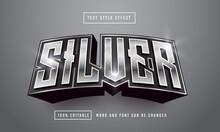 Silver Font Text Effect Editable Premium Free Downloa