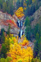 Obraz na Szkle Góry Autumn colorful scene in the Utah Mountains, USA.