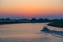 River Powerboat Trip At Dawn