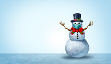 Winter Healthcare As A Snowman Wearing A Face Mask Concept As A Snow Man Holiday Season Symbol For Health And Disease Prevention As Medical Equipment Preventing A Sickness