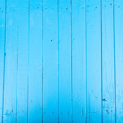 Blue wood background. Boards close-up.