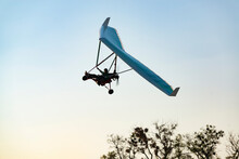 Motorized Hang Glider Wing Silhouette.