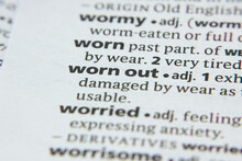 Word Or Phrase Worn Out In A D...