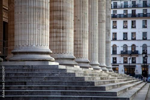Marches et colonnes du panthéon Billede på lærred