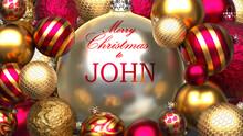 Christmas Card For John To Sen...