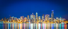 Seattle  City Skyline With  Re...