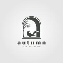 Home Decor Vector Logo Illustration Design, Bird In Window Vector Template Design