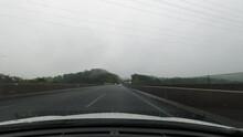 東海環状自動車道 雨天 愛知県 豊田市 日本