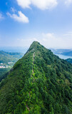 Sharp mountain in Clear Water Bay, Sai Kung, Hong Kong. Hiking destination, clear weather in Autumn, Natural environment