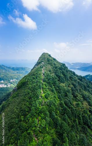 Obraz Sharp mountain in Clear Water Bay, Sai Kung, Hong Kong. Hiking destination, clear weather in Autumn, Natural environment - fototapety do salonu