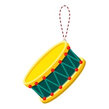 Toy Drum Icon. Cartoon Of Toy ...