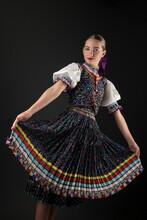 Slovak Folklore. Slovak Folk Dancer.