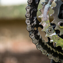 Close-up Of Gears And A Chain ...