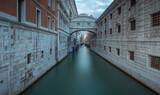 Fototapeta Sawanna - Sospiri bridge, Venice. The city on the lagoon, Italy